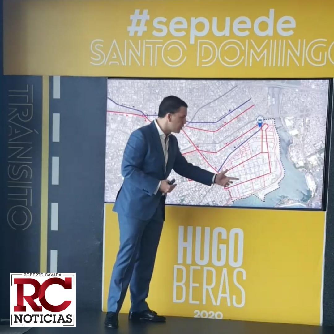 Hugo Beras presenta propuesta para solucionar problemas de tránsito en el Distrito Nacional