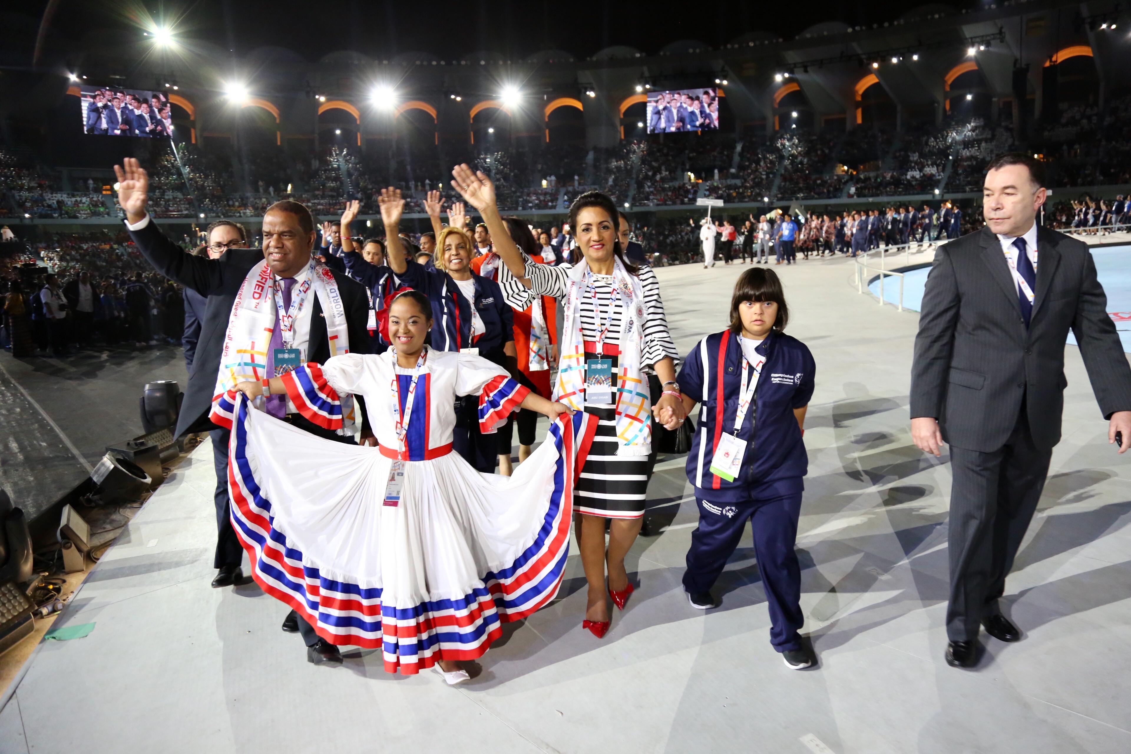 Primera dama encabeza delegación dominicana en apertura de los Juegos Mundiales de Olimpiadas Especiales