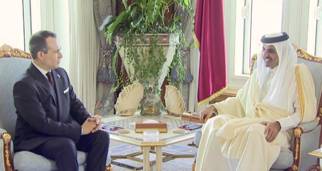 Embajador Federico Cuello presenta credenciales ante el Emir de Qatar