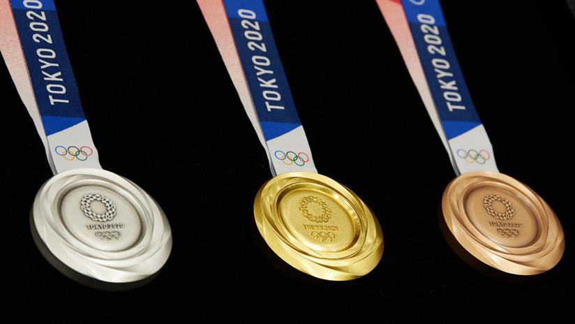 (Video): Presentan las medallas olímpicas de Tokio 2020, fabricadas con dispositivos electrónicos reciclados