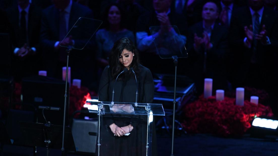 Vanessa Bryant habla por primera vez en público y se despide de su marido e hija con un conmovedor discurso