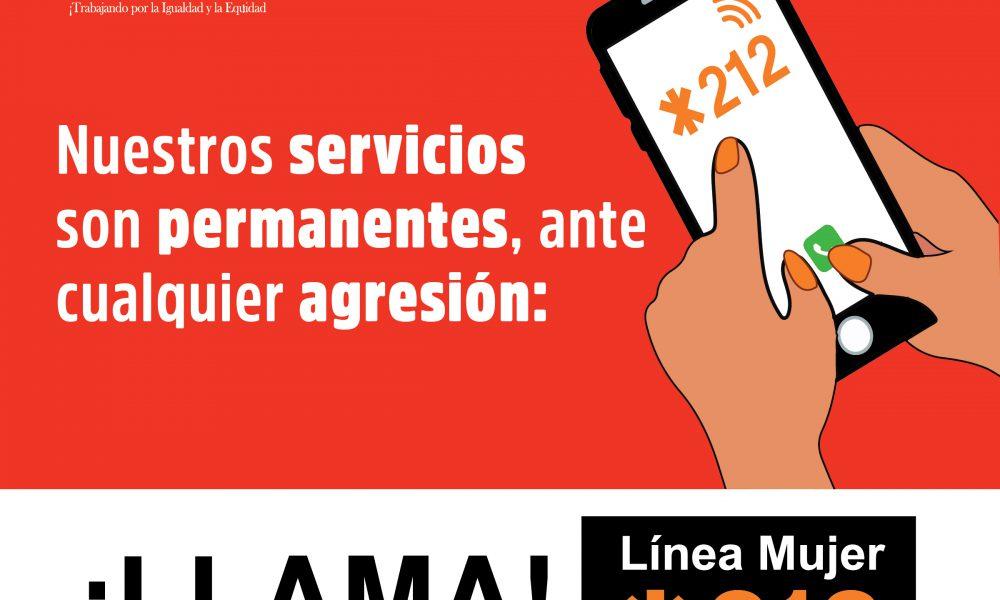En 10 días de cuarentena la Columna Dama *212 ha amado 238 llamadas, la generalidad a través del Sistema 911