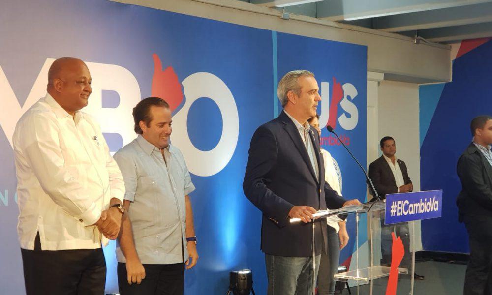 Abinader dice PRM  ganó en 70% de los municipios cabecera