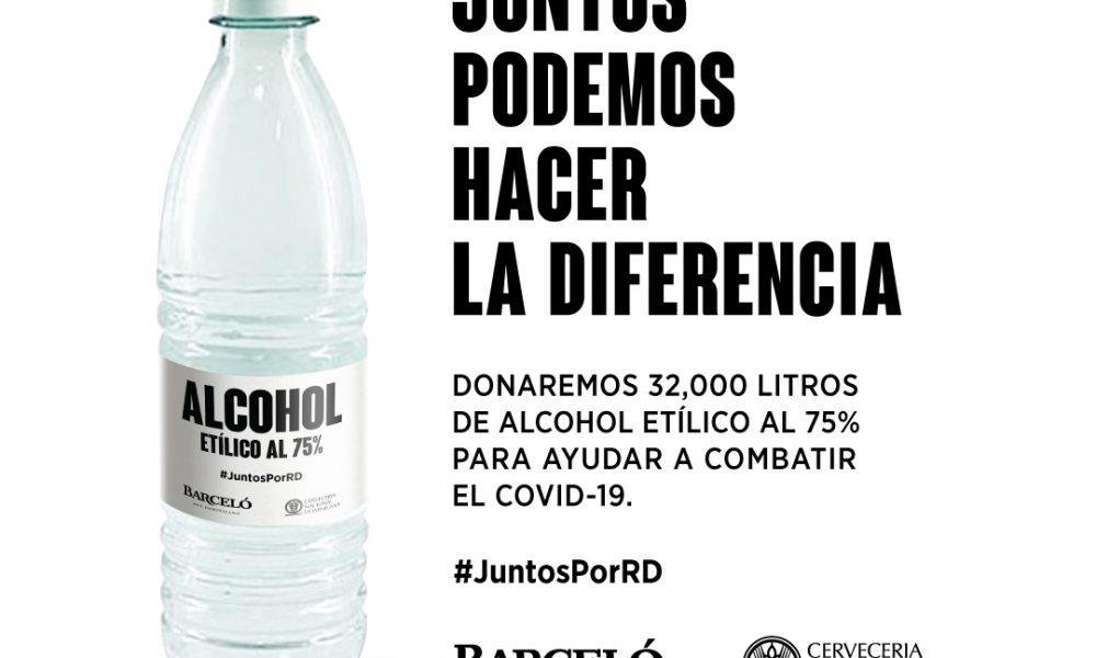 Ron Barceló y Cervecería donan alcohol para ayudar a combatir el COVID-19