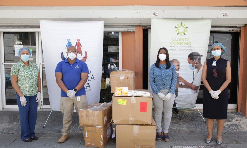"""""""Cuenta Conmigo"""" aporta medicamentos e insumos a hospitales Robert Reid y Artista Billini"""