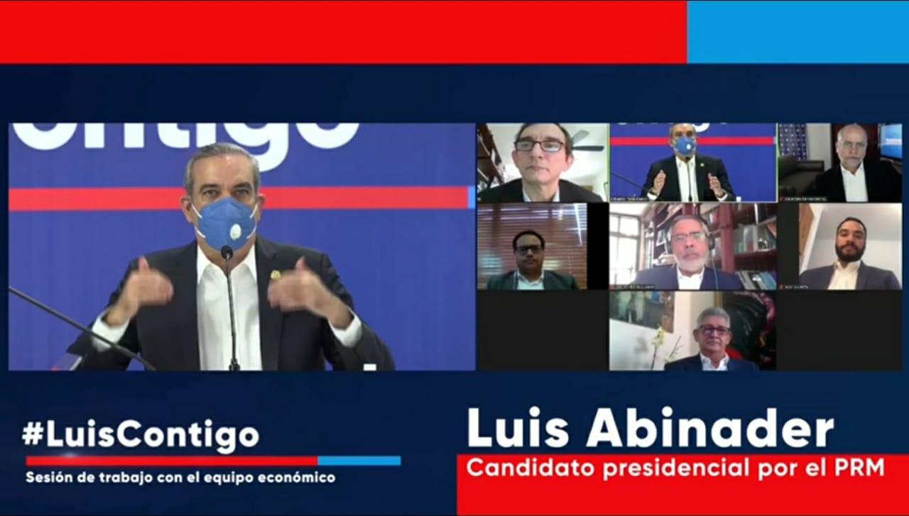 Equipo económico de Luis Abinader presenta plan  para generar más inversiones