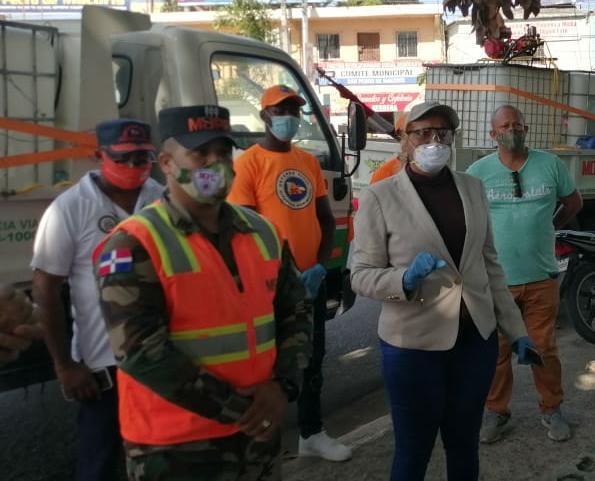 Obras Públicas realiza labores de desinfección en SPM