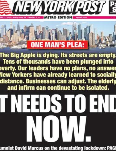 En New York piden el levantamiento total e inmediato de la cuarentena