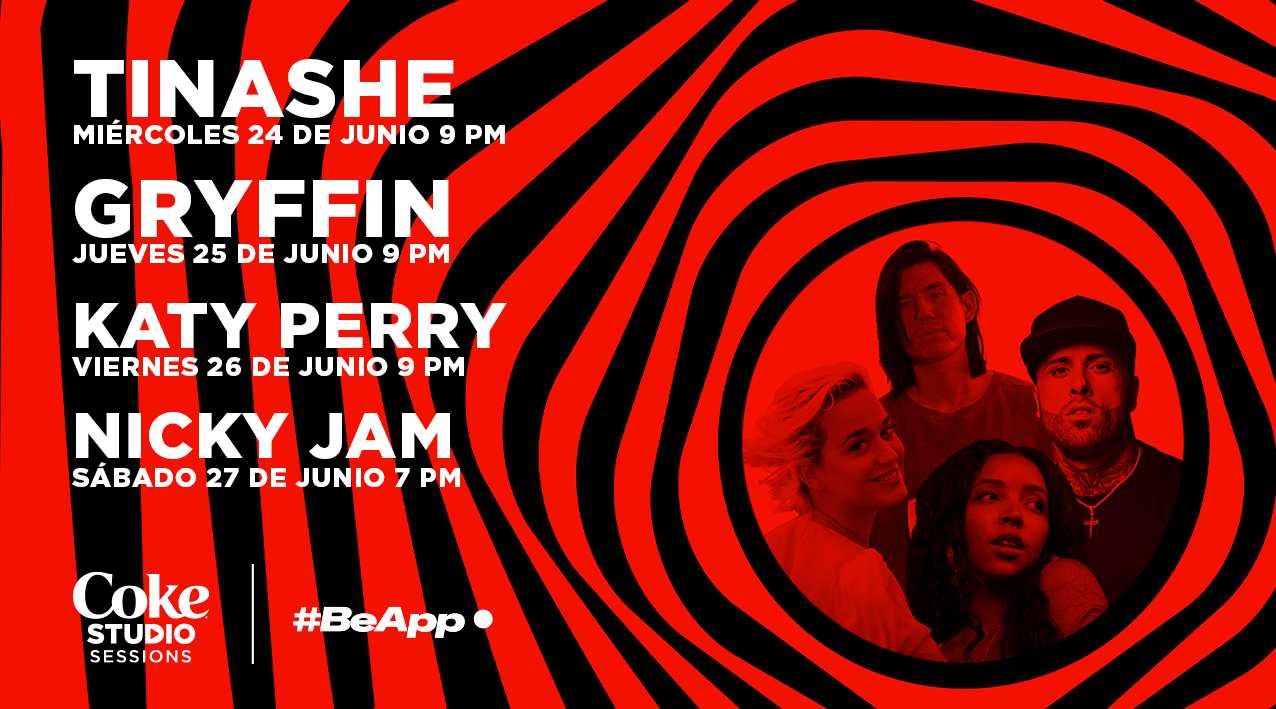 Katy Perry, Nicky Jam, Tinashe, Gryffin y otros se presentarán en vivo en las sesiones de Coke Studio