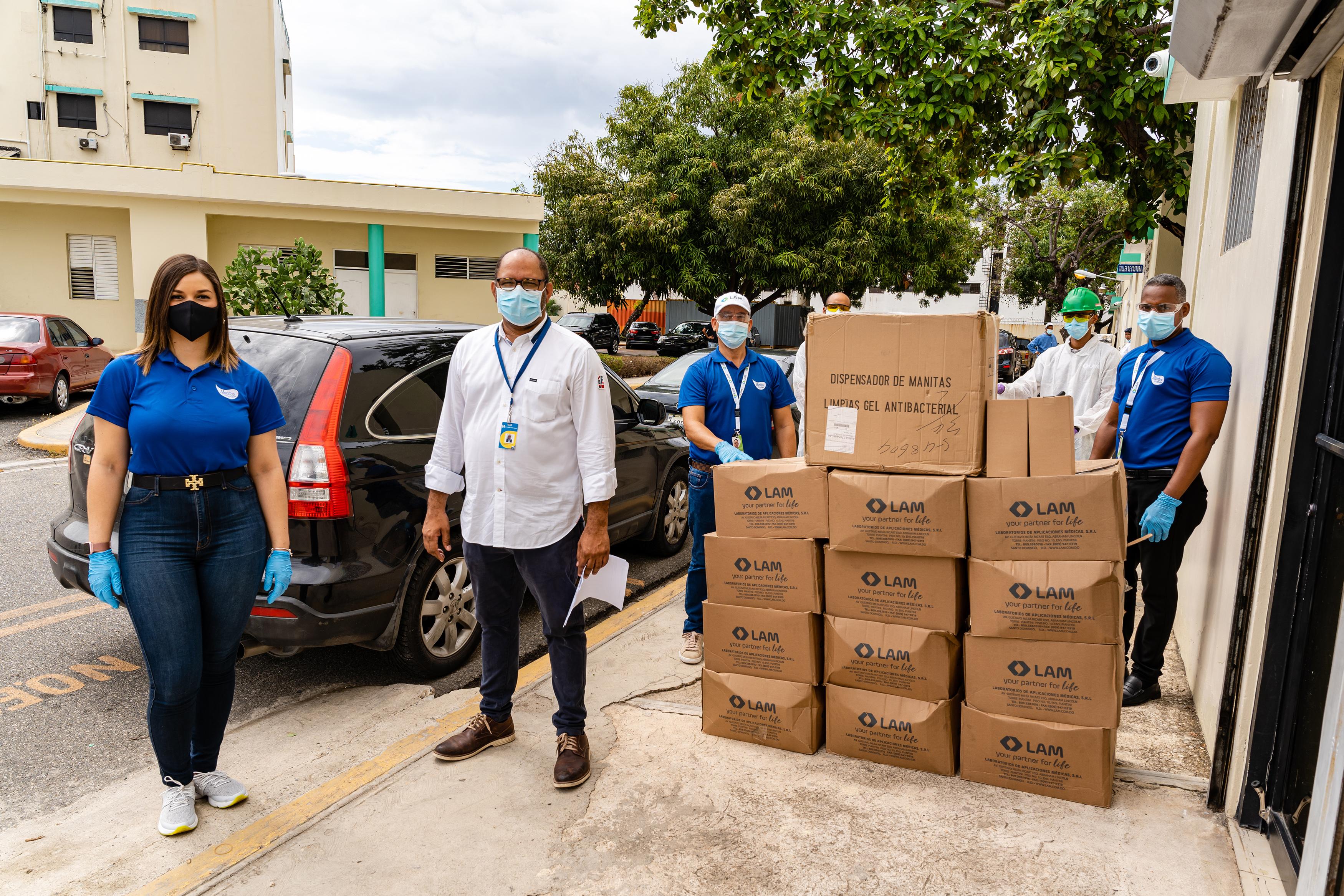 Laboratorios LAM suple con 50 mil unidades de gel antibacterial a hospitales