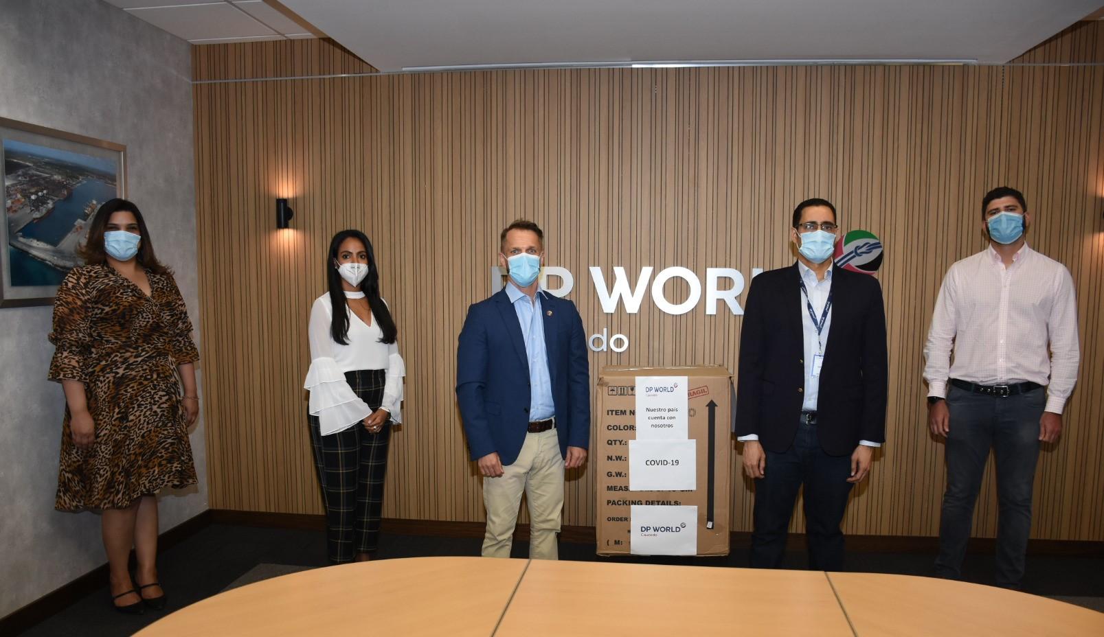 DP World Caucedo dona ventiladores a la Comisión de Alto Nivel para la Prevención y el Control del Coronavirus