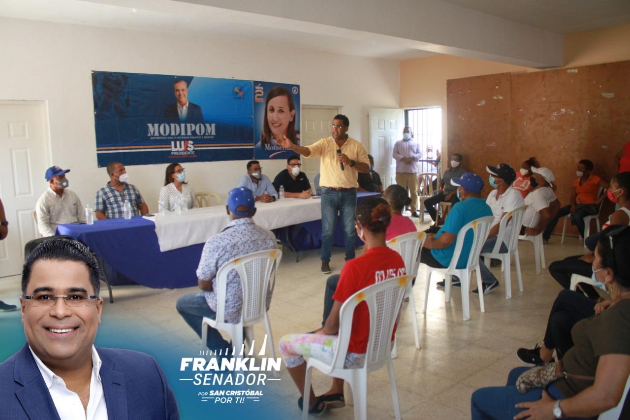 """""""Seré un defensor de los policías y militares en el congreso"""", expresa Franklin Rodríguez"""