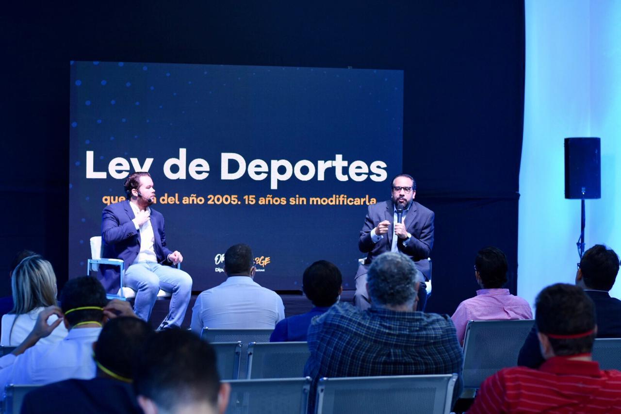 Orlando Jorge Villegas implementará proyecto que incluya 3% al presupuesto nacional del deporte