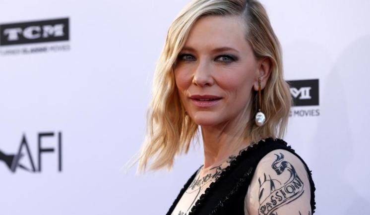 Cate Blanchett cuenta que se ha herido levemente la cabeza en un accidente doméstico con una motosierra