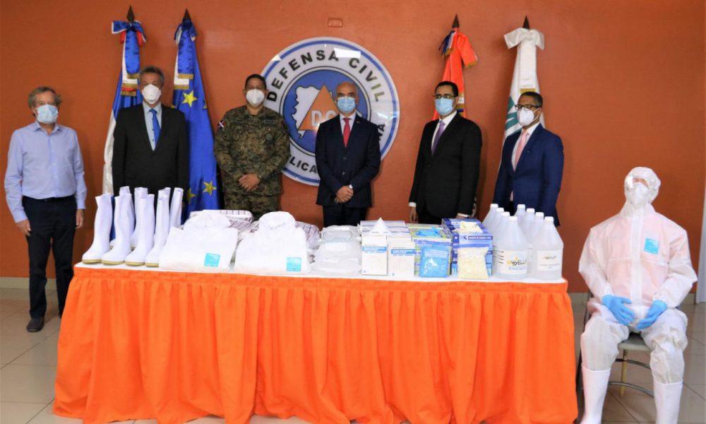Unión Europea dona equipos de protección a Defensa Civil para frenar Covid-19