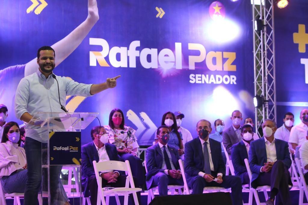 Video | Danilo Medina encabeza acto en apoyo a Rafael Paz y Gonzalo Castillo