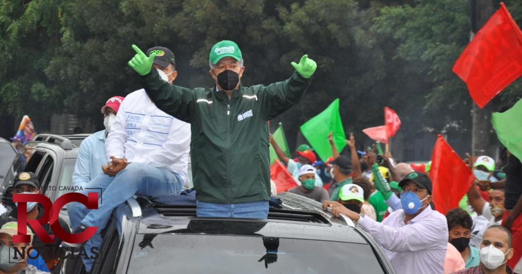 FP anuncia marcha caravana este jueves para el cierre de campaña de Leonel