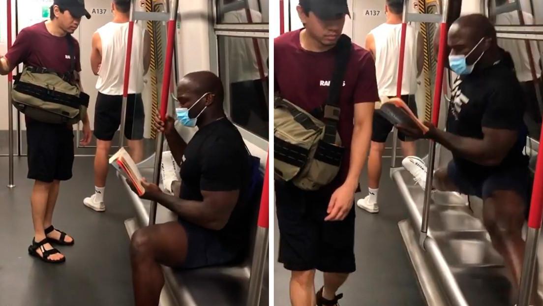 Video | Intenta sentarse sin mascarilla al lado de un luchador de MMA en el metro y este reacciona de la manera menos esperada