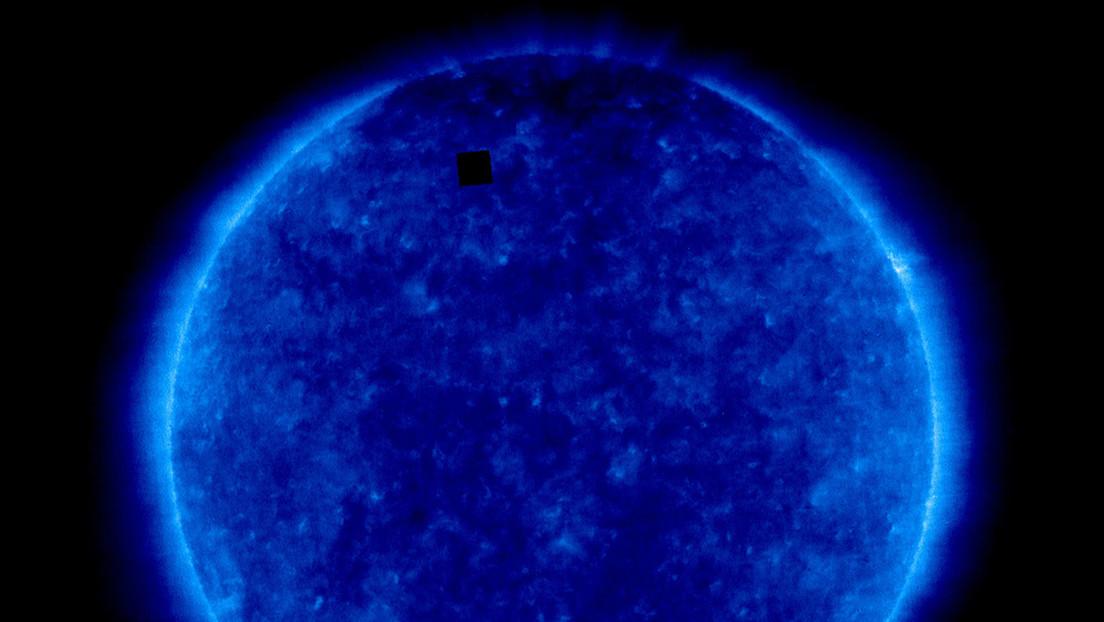 Aclaran el origen de un raro cubo negro en una nueva imagen del Sol