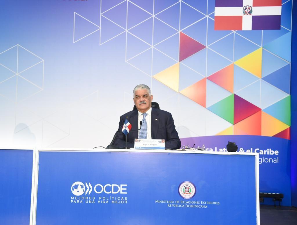Canciller Miguel Vargas propone en OCDE pacto reactivación socioeconómica de países