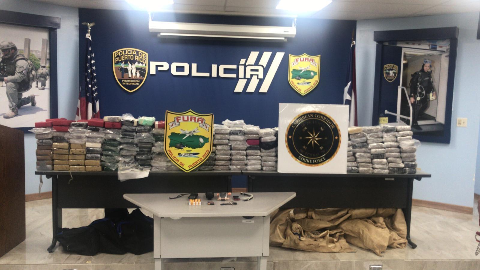 DNCD: Fuerza de Ataque del Corredor del Caribe decomisa 323 paquetes de cocaína