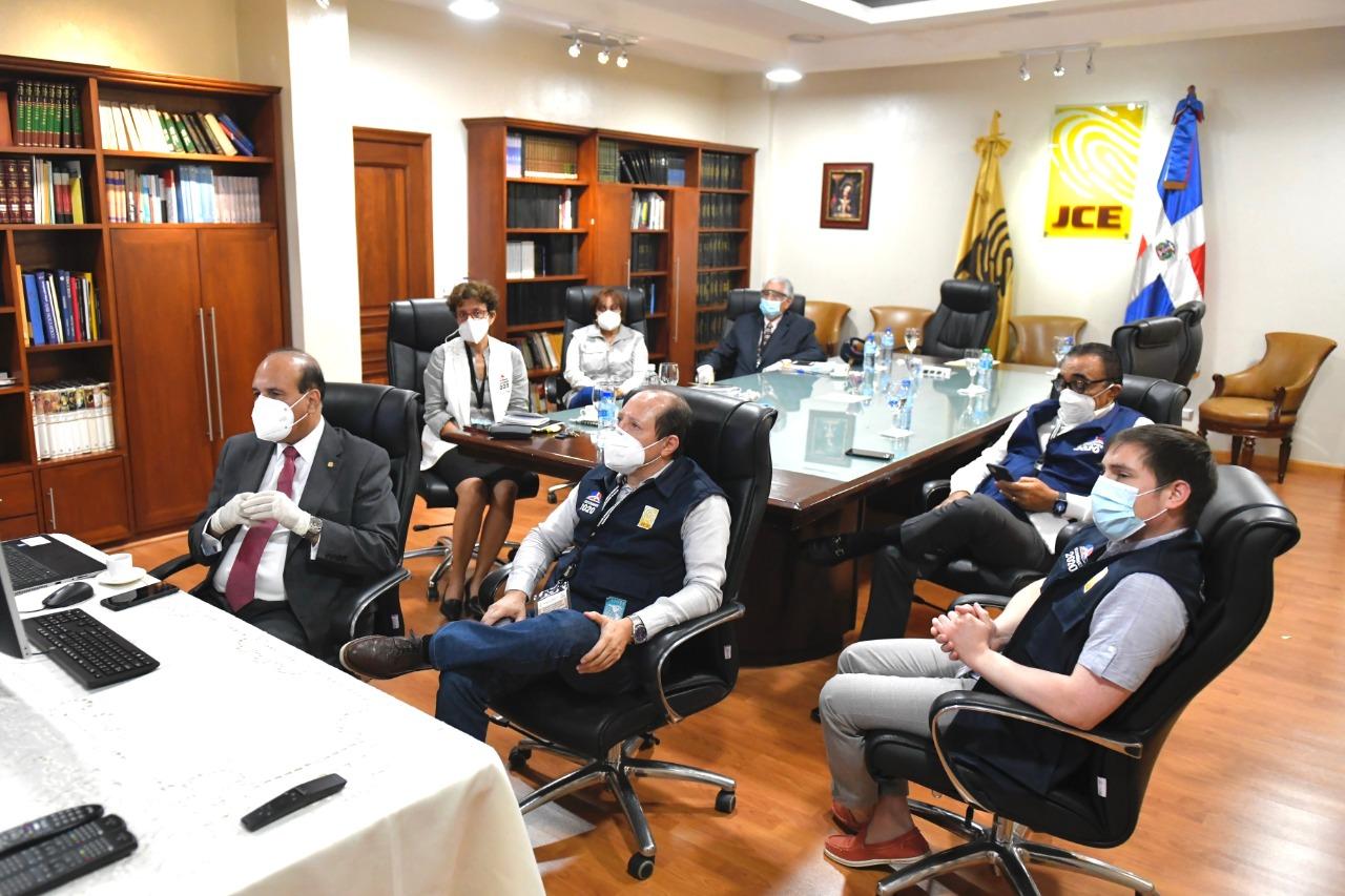 Pleno JCE recibe integrantes de la Misión de Observación Electoral de UNIORE para Elecciones del 5 de julio