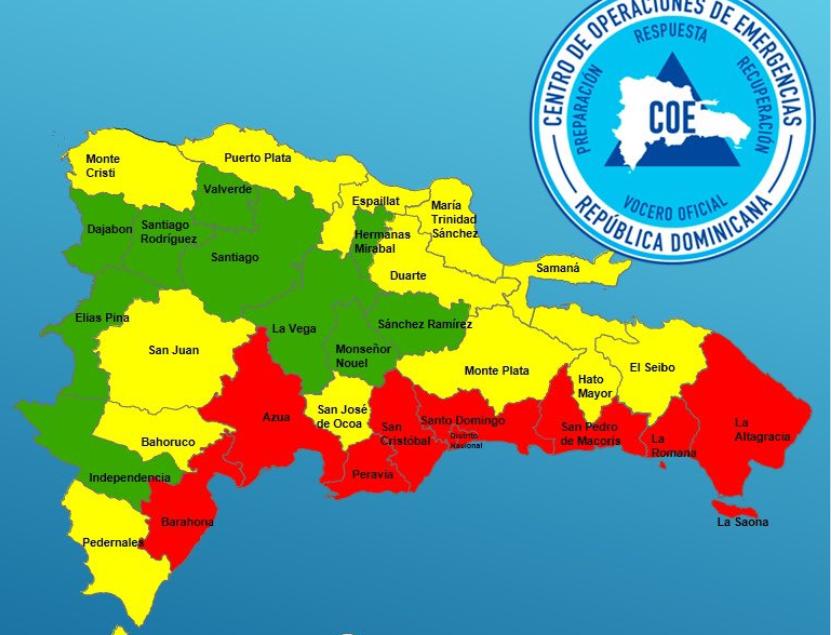 Se eleva la alerta roja en 8 provincias por paso de Isaías