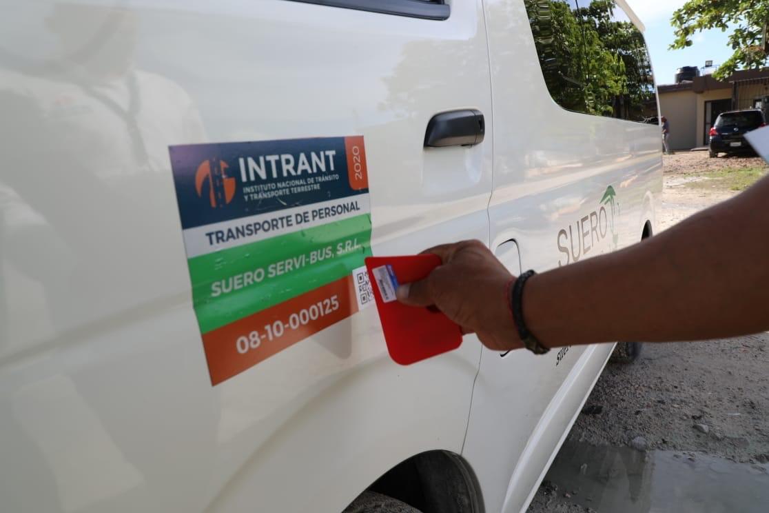 Intrant inicia proceso rotulación transporte privado