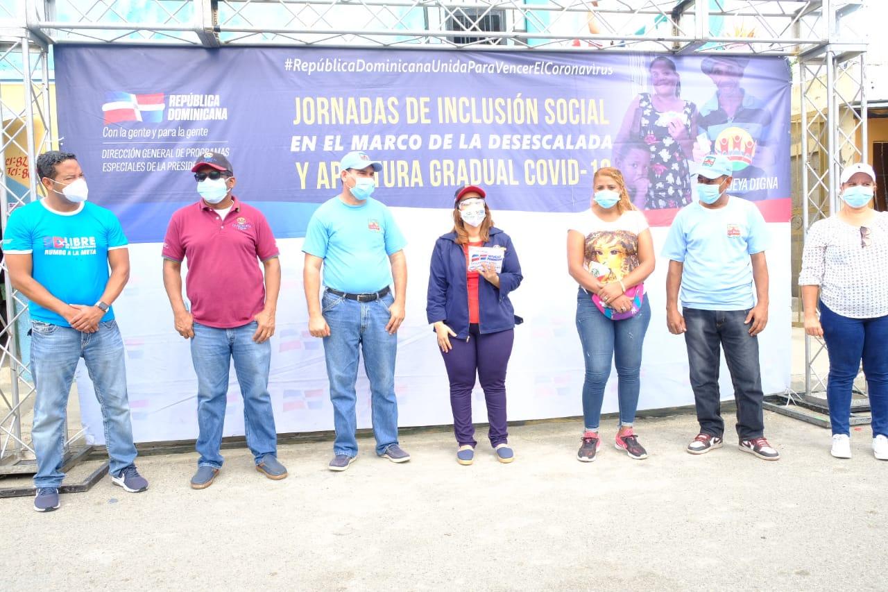 Digepep realiza Jornada de Inclusión Social en Los Tres Brazos ante incremento del COVID-19