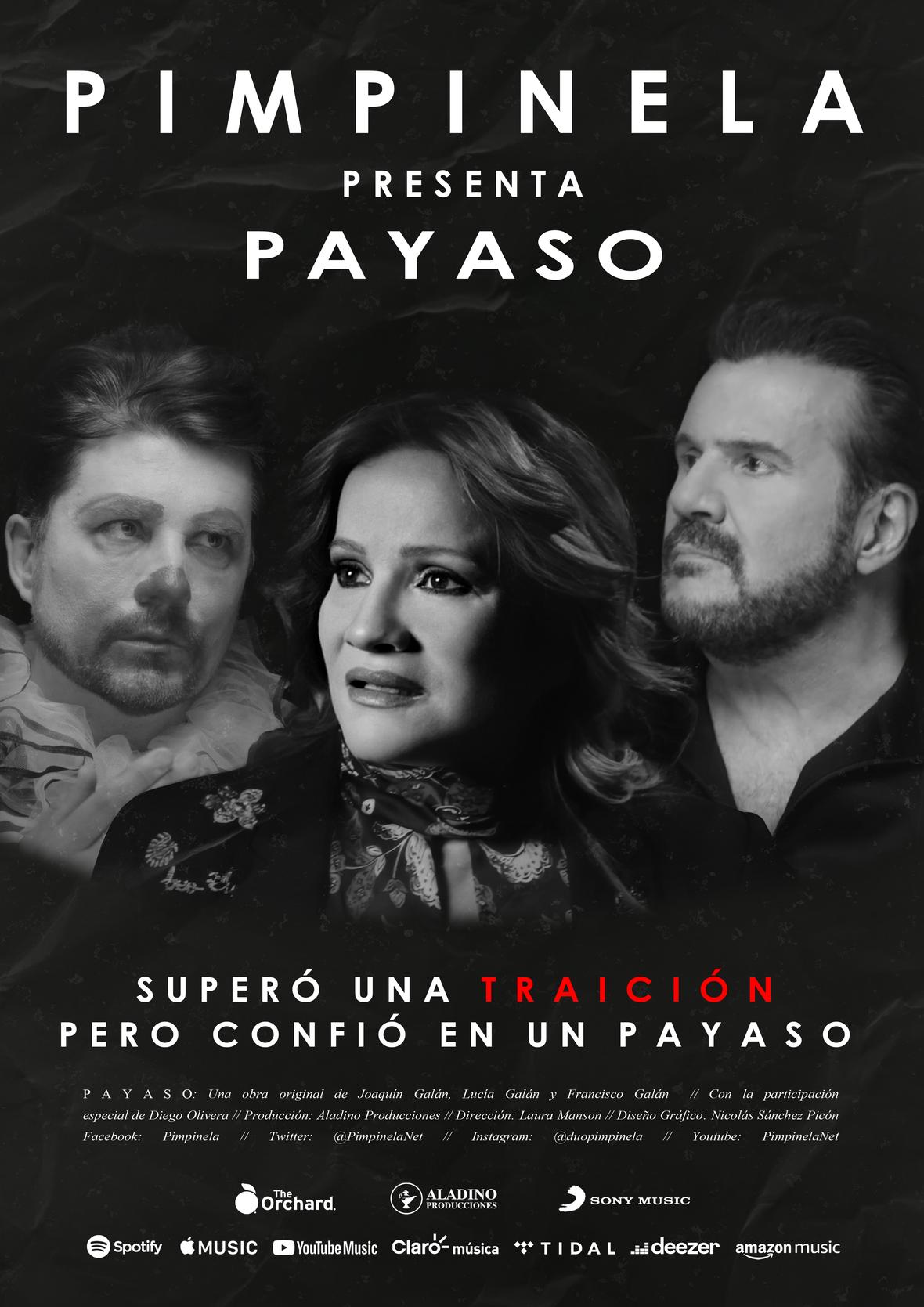 """Pimpinela presenta su nuevo video """"Payaso"""" con la participación especial de Diego Olivera"""