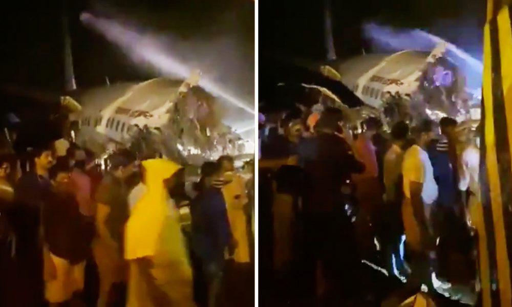 Un avión de Air India Express con unas 190 personas a bordo se parte en dos al salirse de la pista durante el aterrizaje | Videos