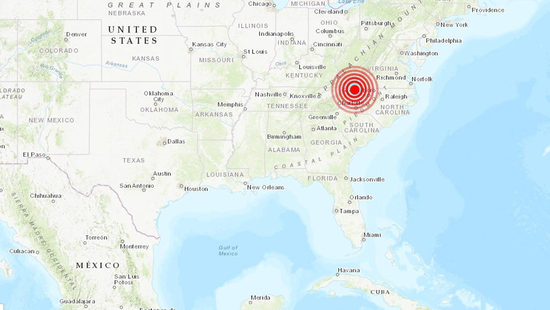 EE.UU.: Se produce un terremoto de magnitud 5,1 en Carolina del Norte