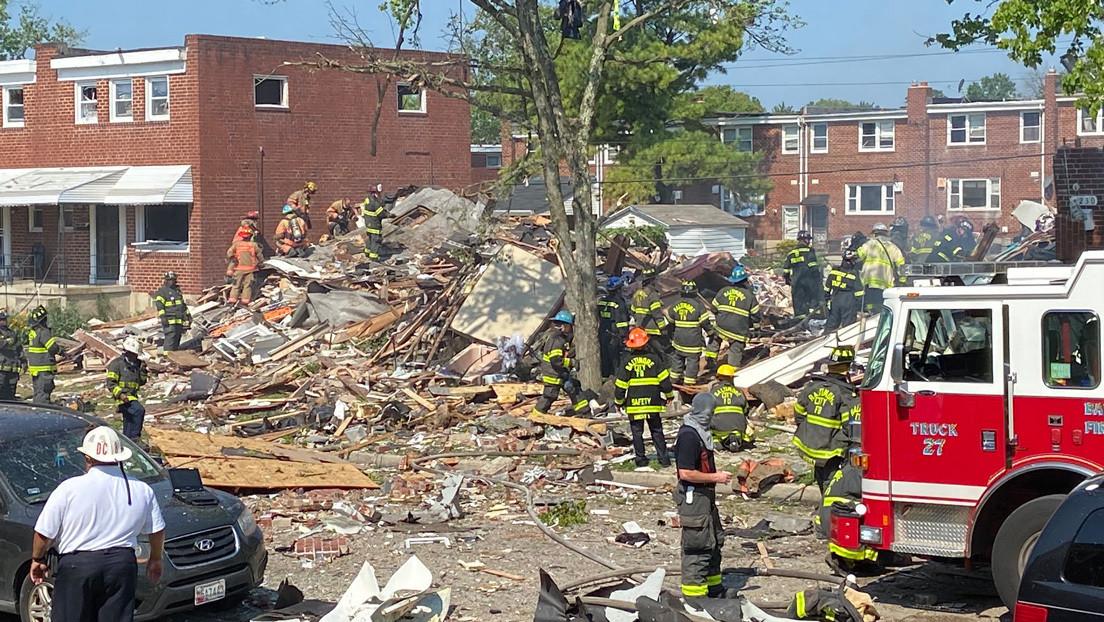 Videos | Un muerto y al menos 2 heridos en estado crítico tras una gran explosión en Baltimore