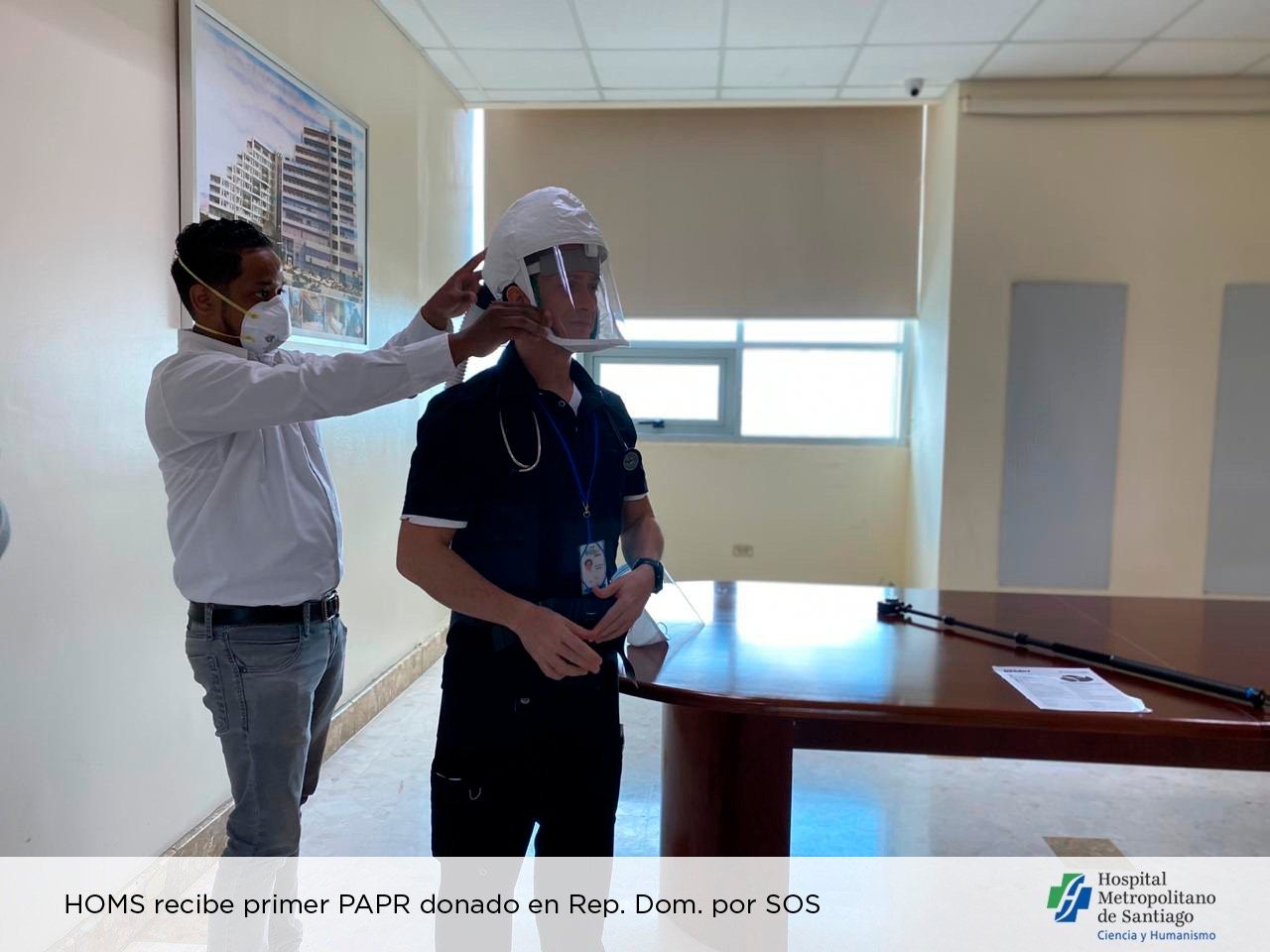 El HOMS recibe primer equipo de respiradores purificadores de aire motorizado