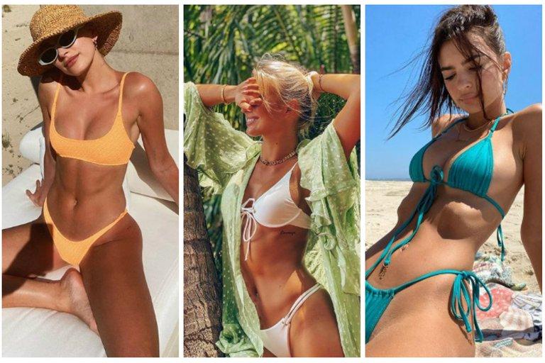 Sol, arena y bikinis: 25 famosas muestran cómo pasan su verano