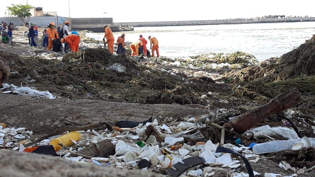 Video | Organizaciones sin fines de lucro se suman a jornada de limpieza en playa Montesinos