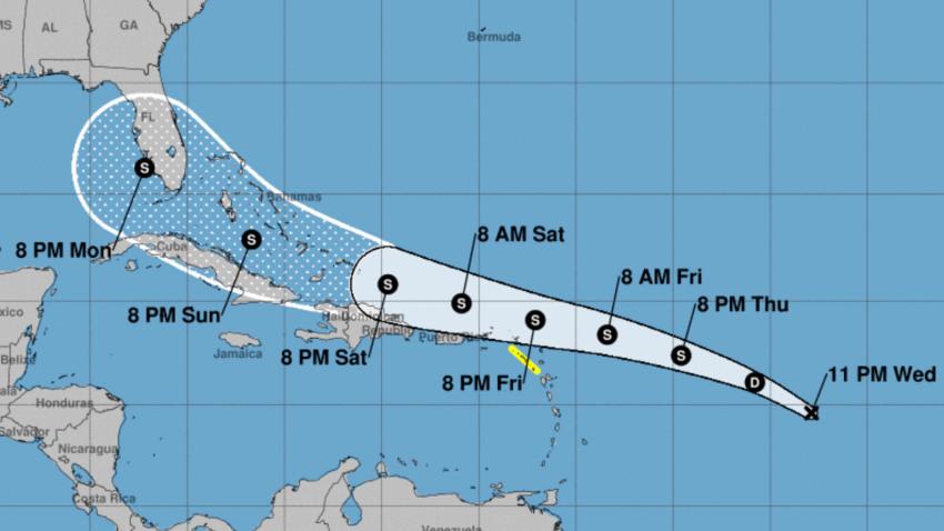 Se forma la depresión tropical número 13 en el Atlántico central