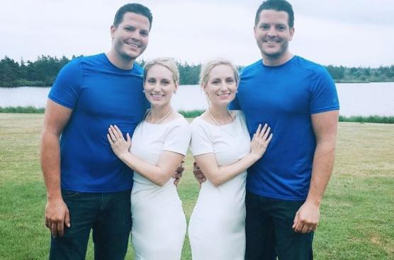 El peculiar caso de las mellizas que se casaron con mellizos y ahora ambas parejas están embarazadas