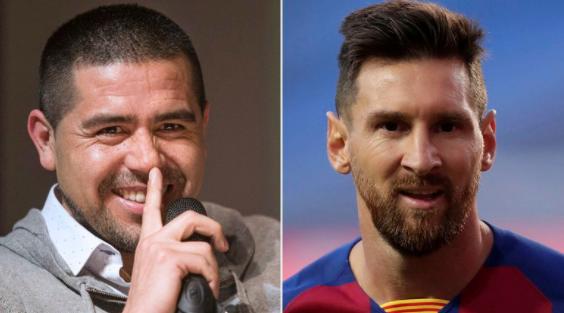 Los mensajes de Riquelme a Lionel Messi en medio de su crisis con el Barcelona