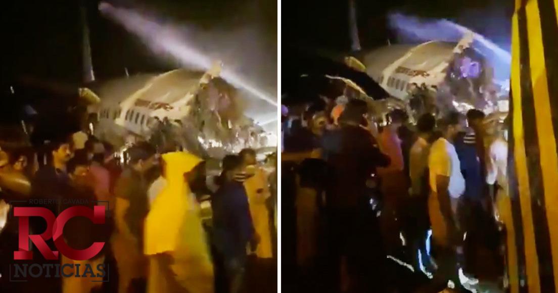 Videos | Al menos 16 muertos después de que un avión de Air India Express se partiera en dos al salirse de la pista durante el aterrizaje