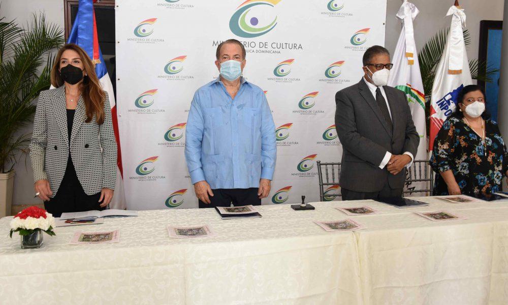 Ministerio de Cultura, ADN e INPOSDOM ponen a circular sellos y textos sobre fundación de Santo Domingo