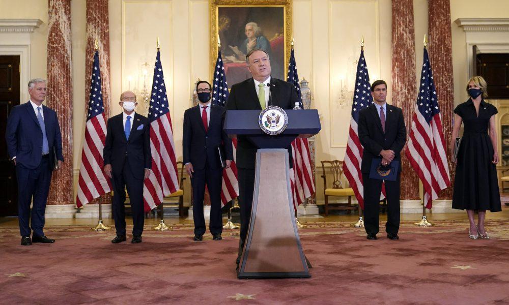 """Pompeo exhorta a Europa a aplicar las sanciones """"de la ONU"""" contra Irán y Maduro"""