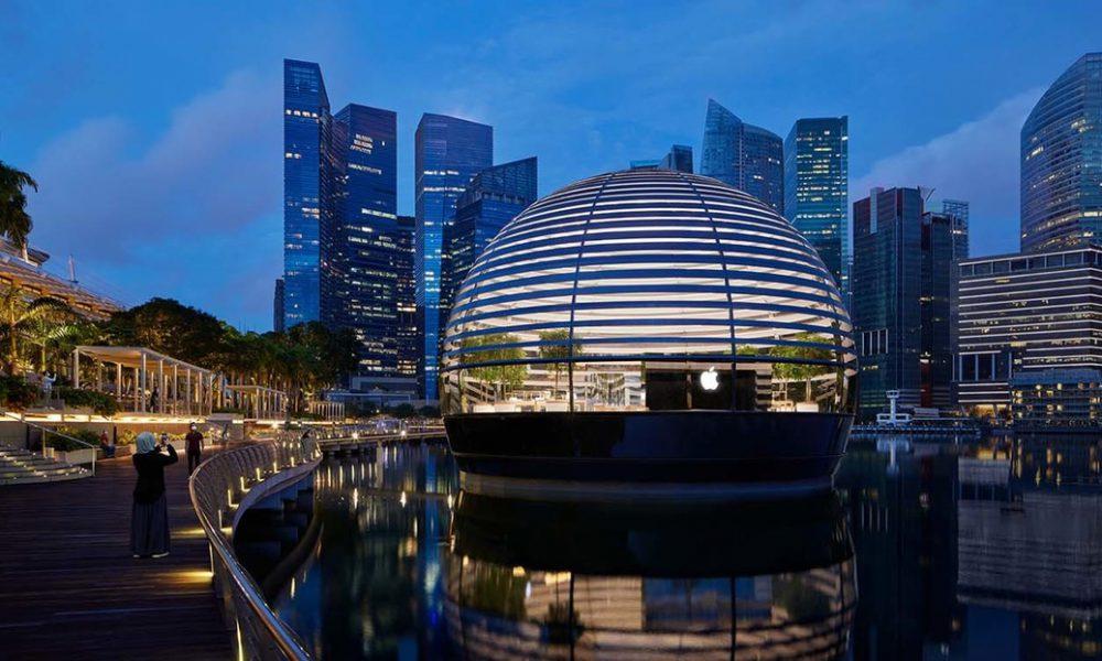 La espectacular nueva tienda de Apple en Singapur es esférica y flotante