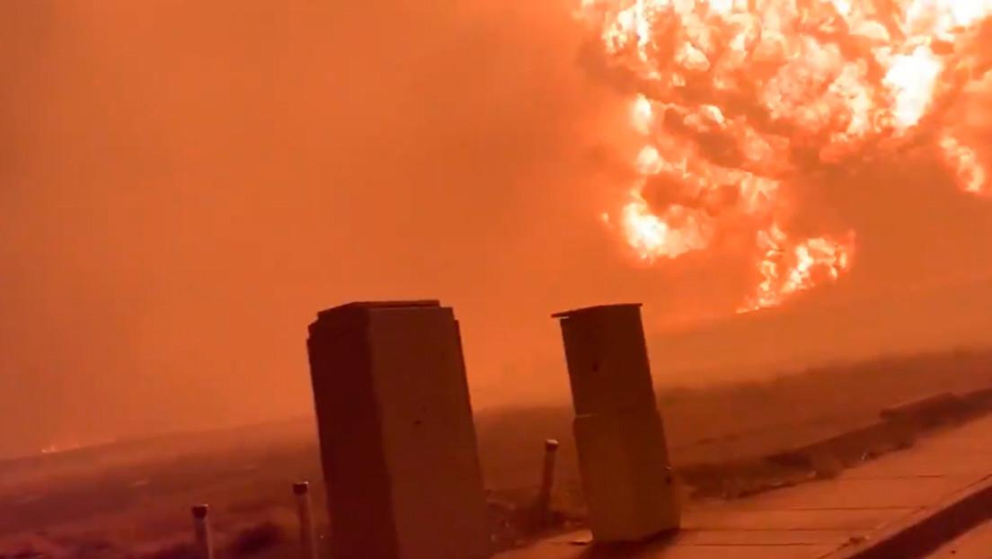 Video | Captan una enorme bola de fuego en Oregón y confirman la destrucción  de cinco localidades por incendios