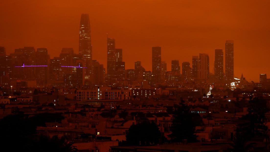 Video | El cielo de San Francisco se tiñe de rojo y capta miles de miradas por su aspecto apocalíptico
