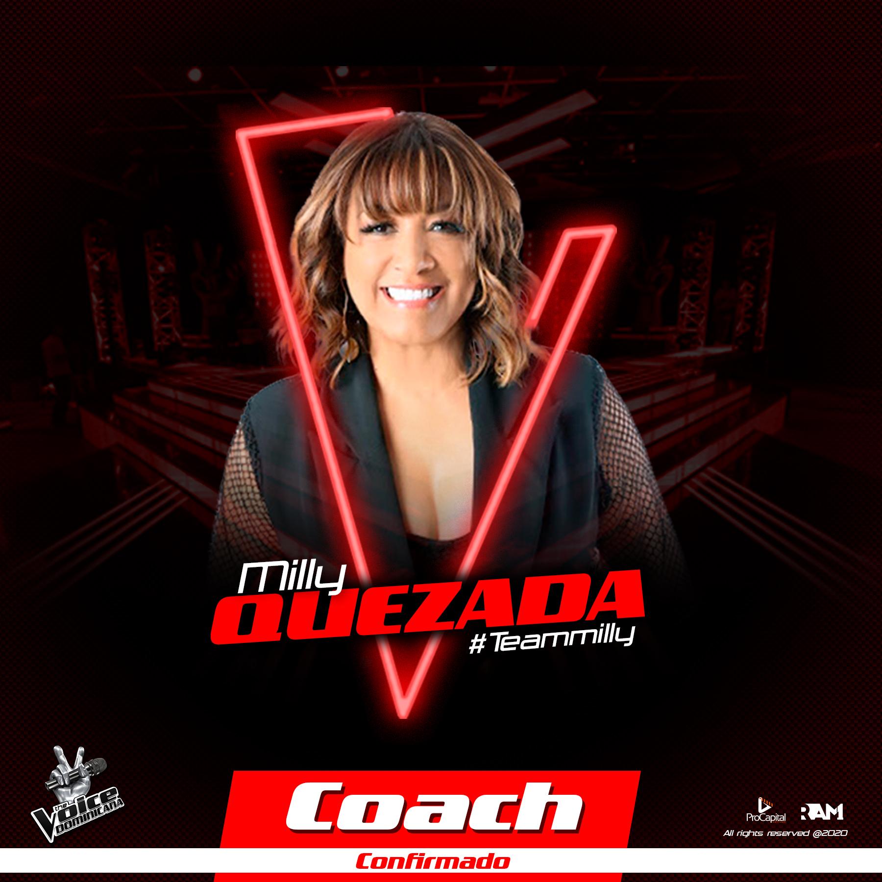 The Voice Dominicana anuncia que Milly Quezada  será su segundo coach