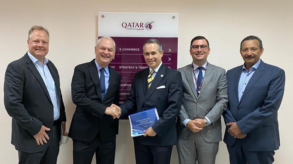 República Dominicana y Qatar Airways trabajan para hacer realidad la visión del Emir de Qatar