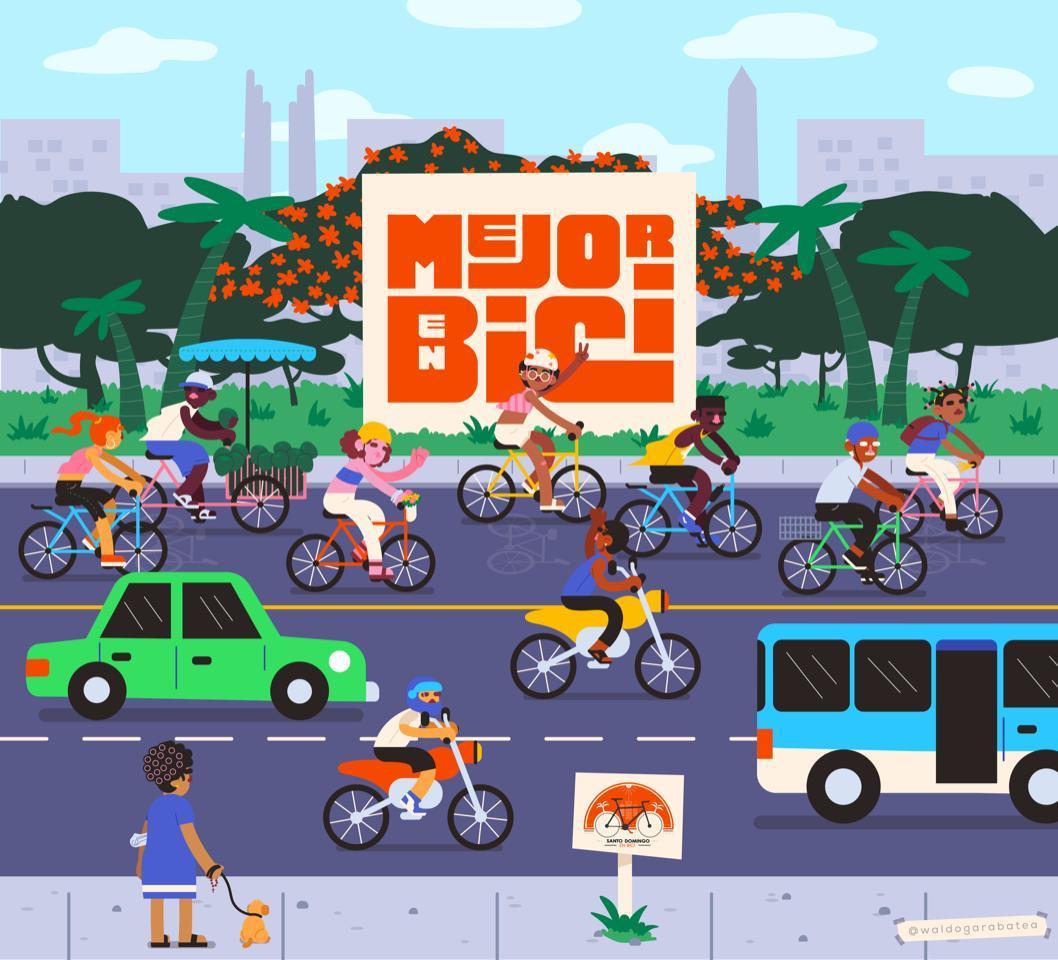 """""""Mejor en Bici"""" promueve el uso de las recientes rutas de ciclovía en GSD"""