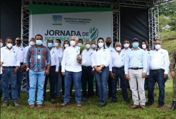 ETED realiza jornada de reforestación en zonas impactadas por mal uso de suelo
