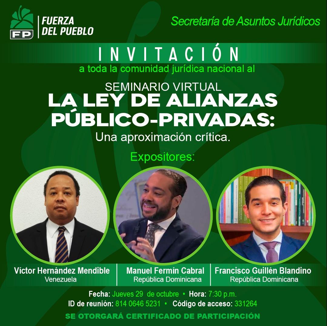 FP organiza panel sobre Ley de Alianzas Público-Privadas